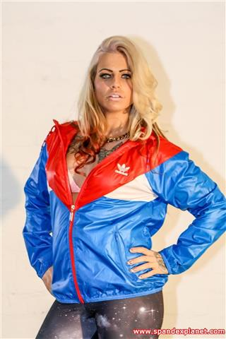 Lana – Shiny Adidas Windbreaker
