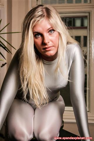 Simone – White tight Spandex