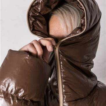 PVC downjacket – hood fully closed